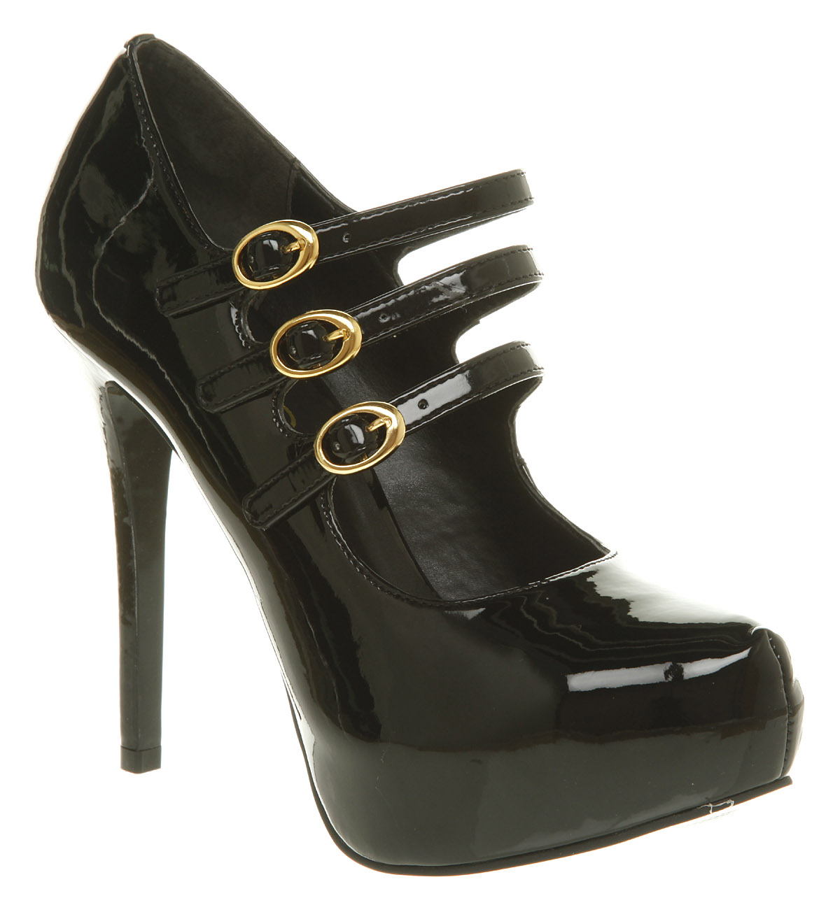 Office Arabella Black patent High Heels