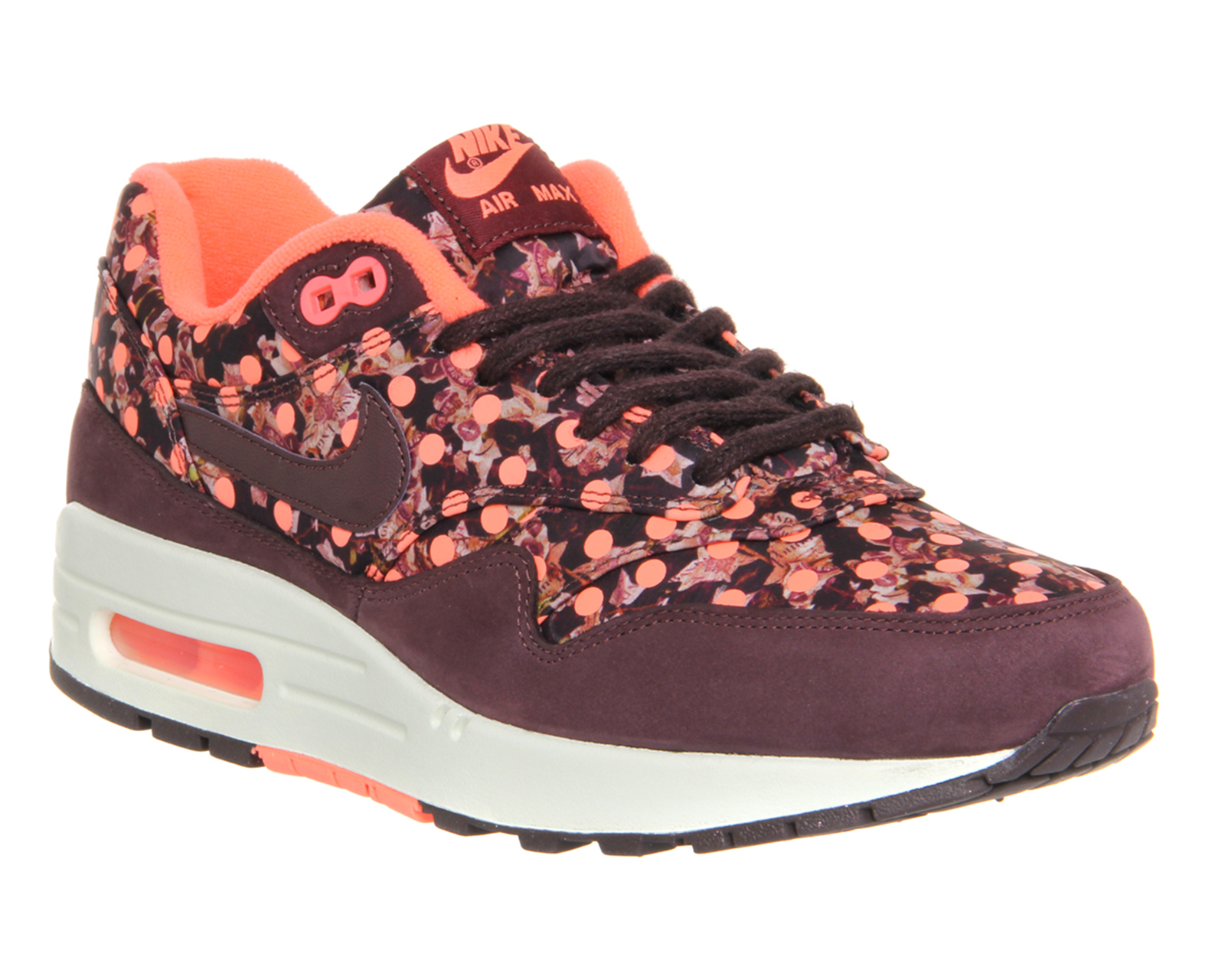 new concept 501b1 07800 Nike Air Max 1 (l) Liberty Deep Burgundy Bright Mango - junior