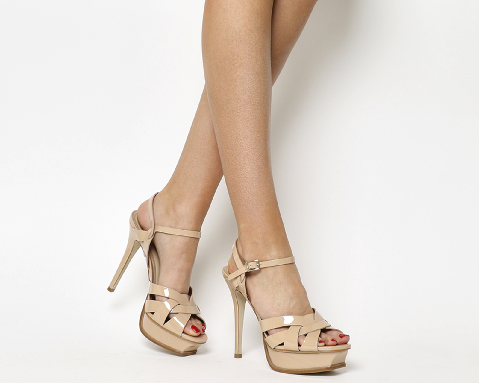 175e2d58390 Office Nostalgia Platform Heels Nude Patent Leather - High Heels