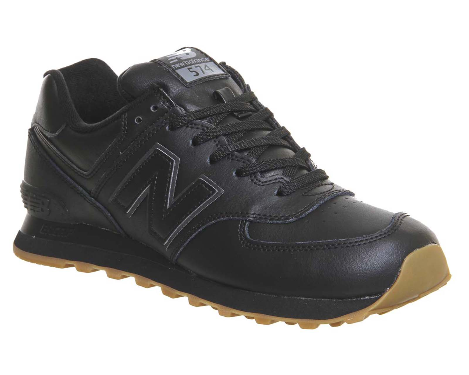 8aa34d37f New Balance New Balance M574 Black Leather Gum - Unisex Sports