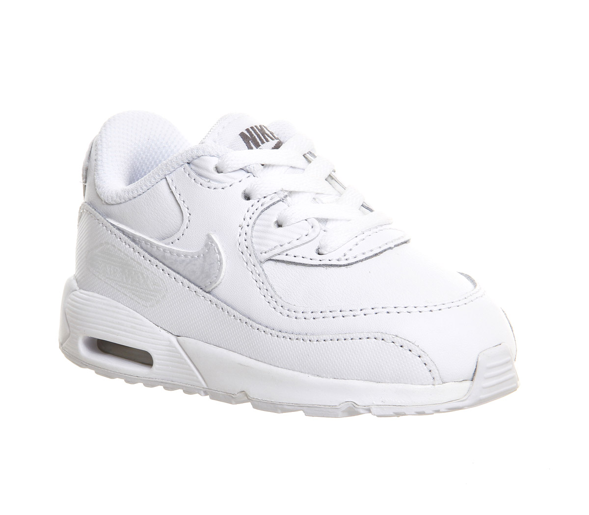 quality design a4630 a390b Nike Air Max 90 Toddler Trainers White White Cool Grey - Unisex